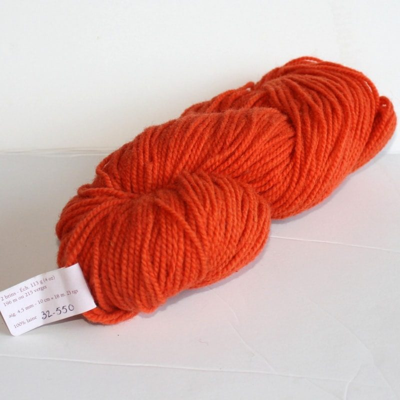 Laines douceur - 100% laine #32 - Orange