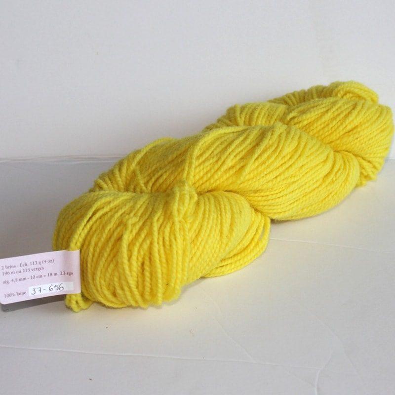 Laines douceur - 100% laine #37 - Jaune canari