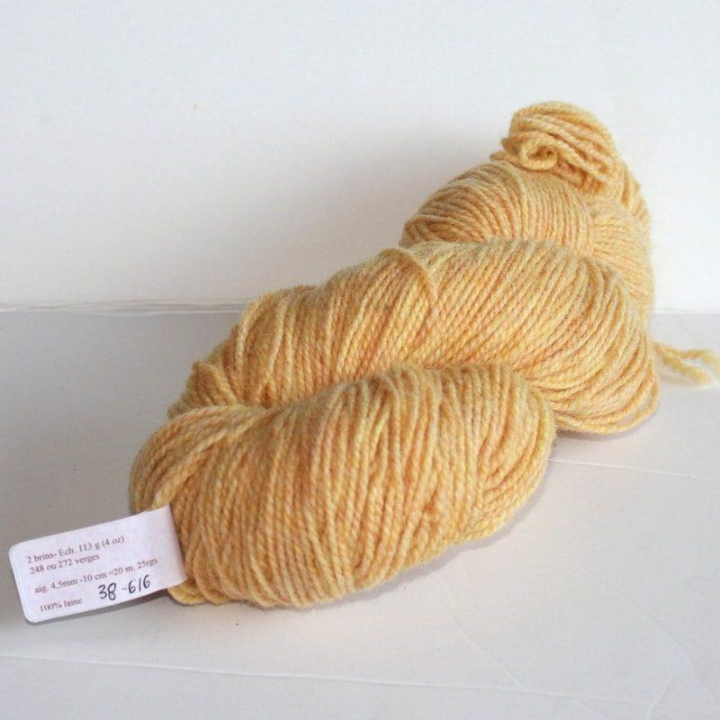 Laines douceur - 100% laine #38 - Jaune soleil