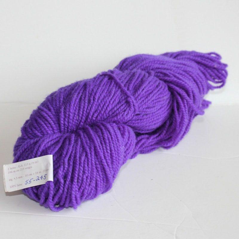 Laines douceur - 100% laine #55 - Violet