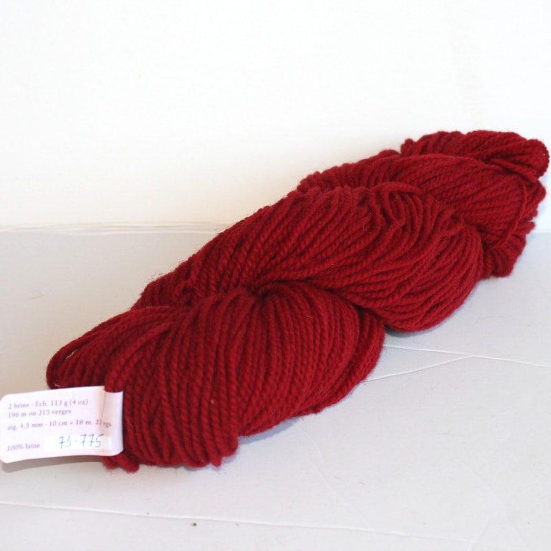 Laines douceur - 100% laine #73 - Rouge feu