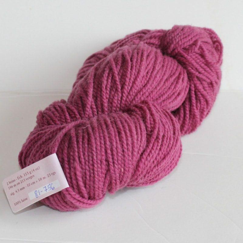 Laines douceur - 100% laine #81 - Rose trémière